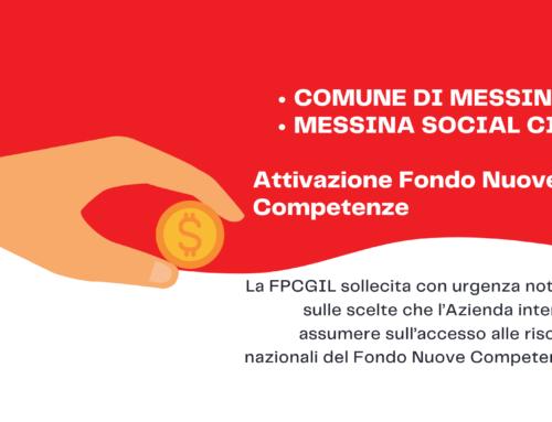 Comune Messina – Messina Social City, Attivazione Fondo Nuove Competenze. Richiesta informazioni
