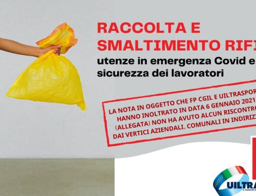 REITERA DELLA NOTA SINDACALE – Raccolta e smaltimento rifiuti – utenze in emergenza Covid e sicurezza dei lavoratori