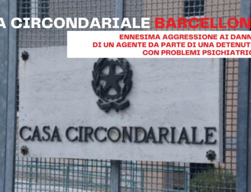 Casa Circondariale Barcellona, ennesima aggressione ai danni di un Agente da parte di una detenuta