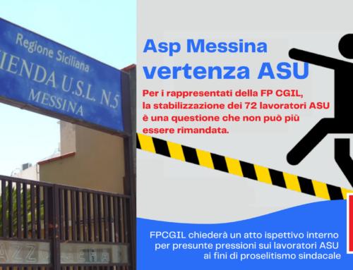 """Asp Messina, vertenza ASU. FP CGIL: «Inaccettabile l'ultimo """"colpo di teatro"""" del DG La Paglia prima della sospensione. Pronta la diffida legale»"""