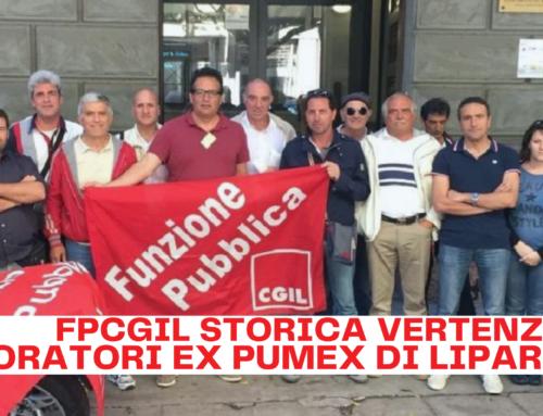 FPCGIL storica vertenza lavoratori ex Pumex di Lipari ad una svolta decisiva.
