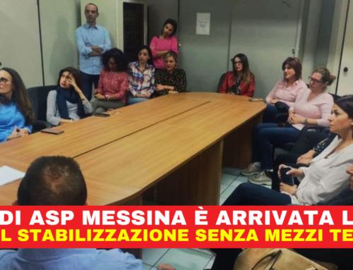 ASU di ASP Messina è arrivata l'ora – FPCGIL stabilizzazione senza mezzi termini.