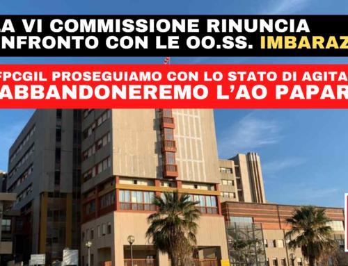 ARS la VI Commissione rinuncia al confronto con le OO.SS.