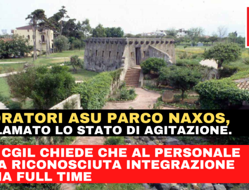 Parco di Naxos, FP CGIL: «Dichiarato lo stato di agitazione dei lavoratori ASU per il mancato riconoscimento dell'integrazione oraria»