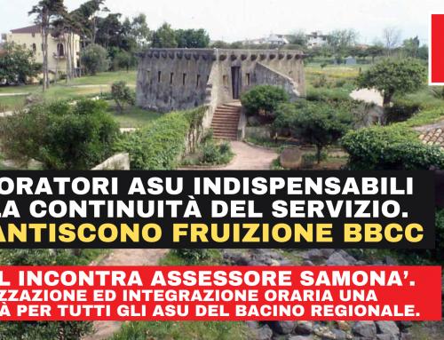 ASU Beni Culturali, la  FP CGIL a confronto con l'Assessore Regionale Samonà per la stabilizzazione e l'integrazione oraria del personale