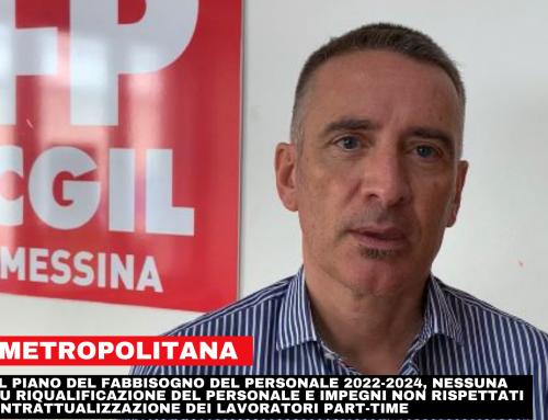 Città Metropolitana Messina, FP CGIL: nel piano del fabbisogno del personale 2022-2024, nessuna risposta su riqualificazione del personale e impegni non rispettati nella ricontrattualizzazione dei lavoratori part-time